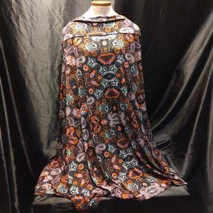 3X Black Paisley LLR Maxi Skirt